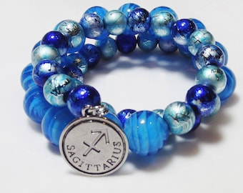 CUSTOM UNISEX Birth Month and Zodiac Charm Bracelets