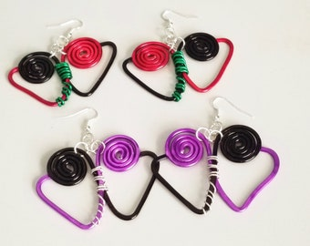 Wakanda Forever RGB and Vibranium Earrings