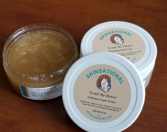"Skinsational ""Scrub Me Down"" All Natural Salt and Sugar Scrubs"