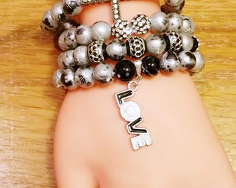 In Love Stacked Bracelet Set. ON SALE!