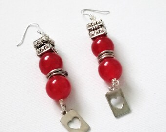 Redhots Jade Charm Earrings