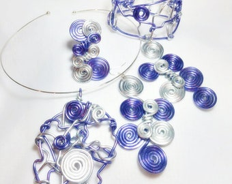Spiral Craze 4 piece Abstract Set