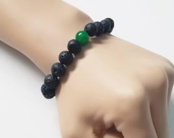 Jetted Jade Men's/Unisex Bracelet
