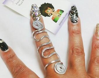TOP SELLER: CUSTOM Bee Bold Adjustable Full Finger Ring