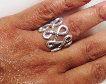 CUSTOM Armored Infinity Wire Wrapped Finger Cuff