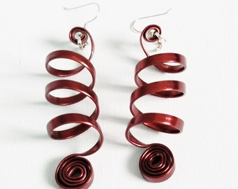 Coco Flat Spiral Earrings