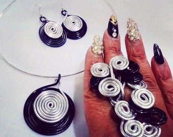 CUSTOM ONLY: Three Piece Wire Spiral Set