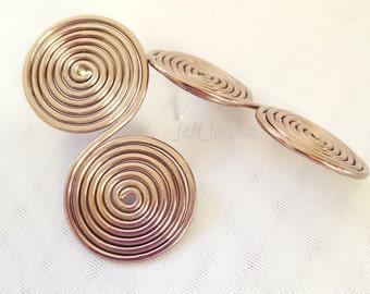 Bronze Goddess Spiral Post Earrings