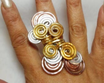 Spiral Craze Full Finger Rings