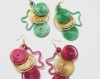 Hammered Wire Ear Candies