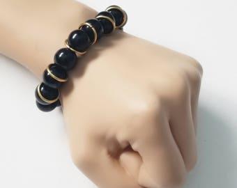 Simply Black Men's/Unisex Bracelet