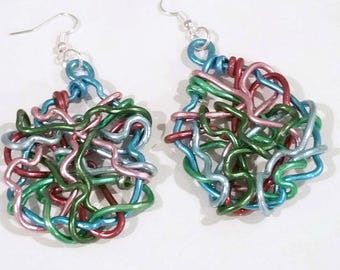 """Chaos """"BirthWires"""" Artistic Wire Earrings"""