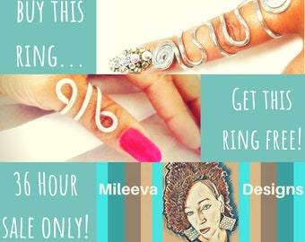 BOGO: Buy one Bee Bold full-finger ring, get a FREE Double Infinity Thumb Ring