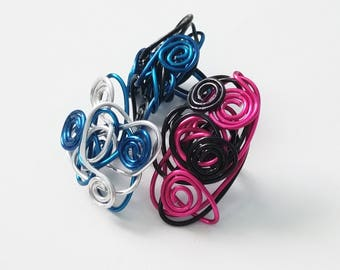 Conundrum in Color Chunky Wire-Wrapped Rings. ON SALE!