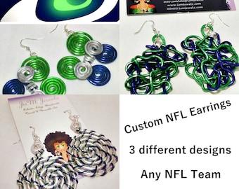 Custom NFL Inspired Team Earrings