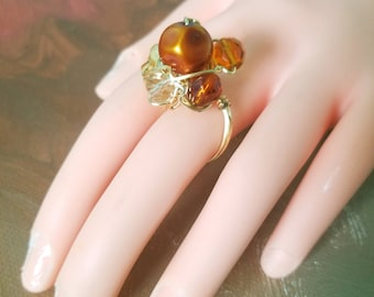 Pre-Holiday Sale! Beaded wire wrapped rings!