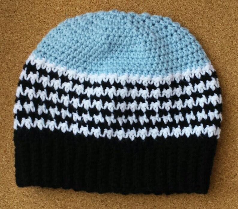 Crochet Houndstooth Beanie Winter Hat