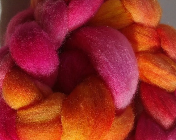 """Braided wool spinning, felting, quilting for textile paintings """"Ice Tea 3"""""""