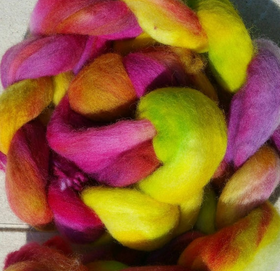 "Wool roving for spinning or felting ""Cosmos"""