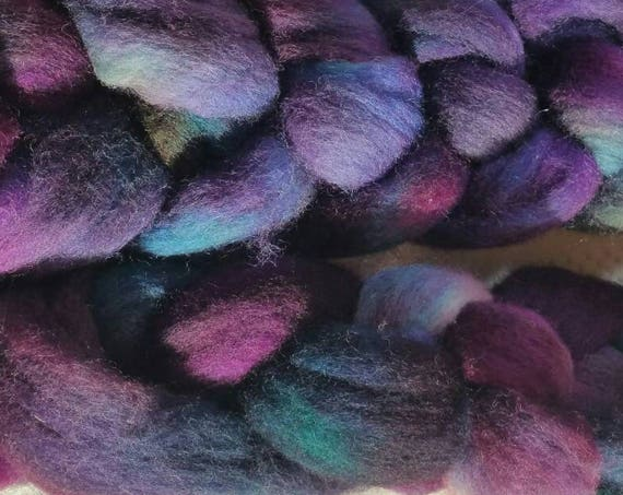 "Braided wool for spinning or felting ""winter 2"""