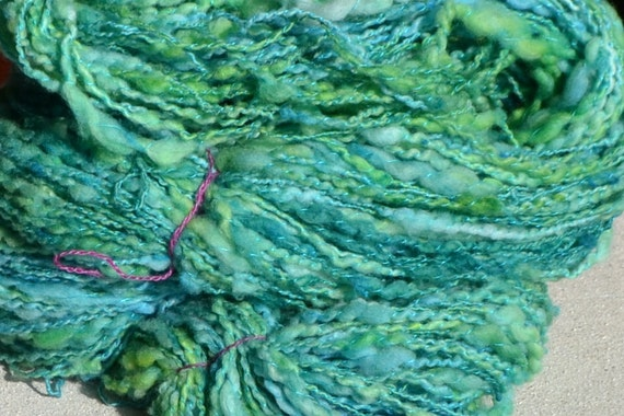 "Skein of handspun ""Emerald"""