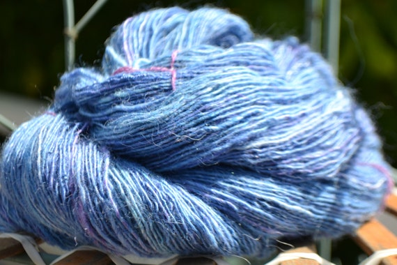 John's 1 hand dyed and spun wool skein