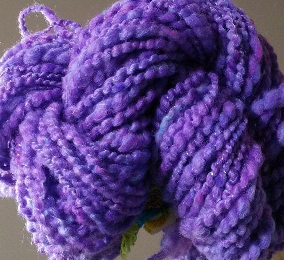 """Crepuscule2"" soft, purple wool hand spun wool skein"