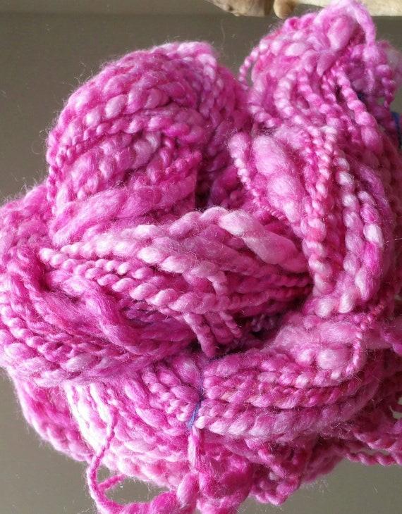 "Skein of hand spun wool ""Old Rose"" very soft wool"