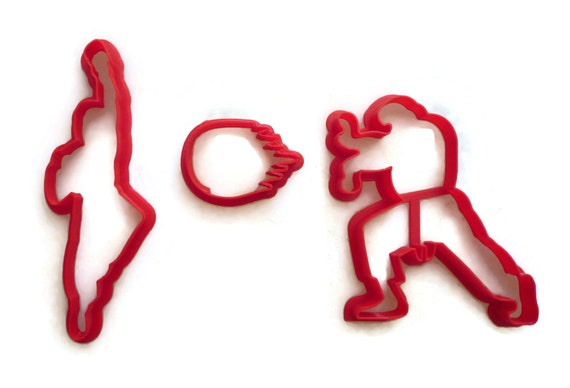 Street Fighter 2 Ken And Ryu With Fireball Cookie Cutter Etsy