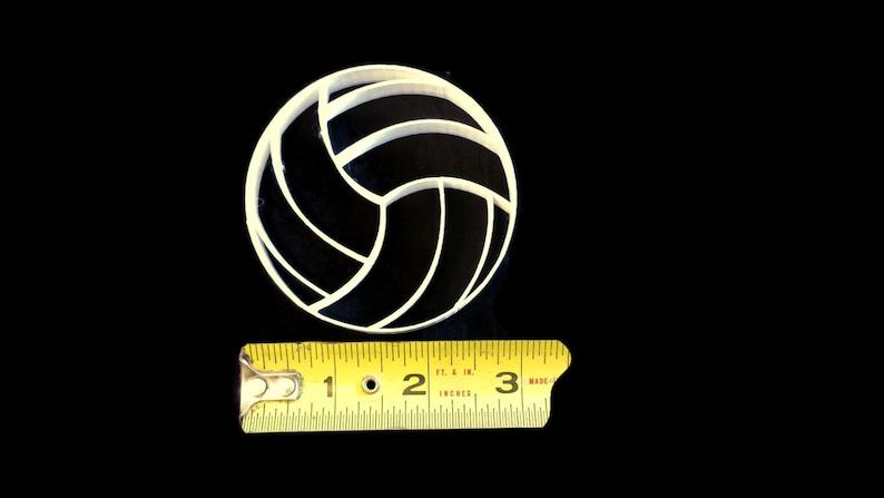 3D Printed VolleyBall Cookie Cutter Fondant Cutter