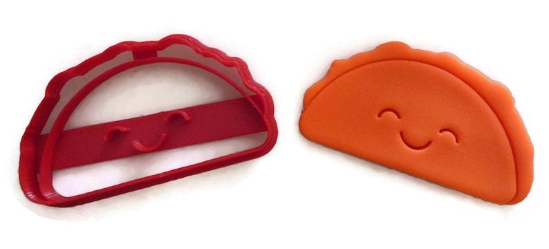 Kawaii Taco cookie cutter fondant cutter image 0