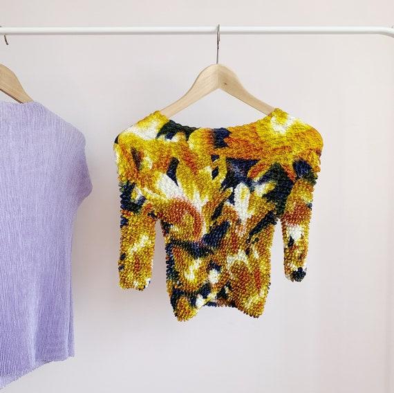 ultimate metallic popcorn shirt · abstract mustard