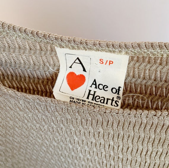 1970s champage knit two piece knit · metallic 70s… - image 4