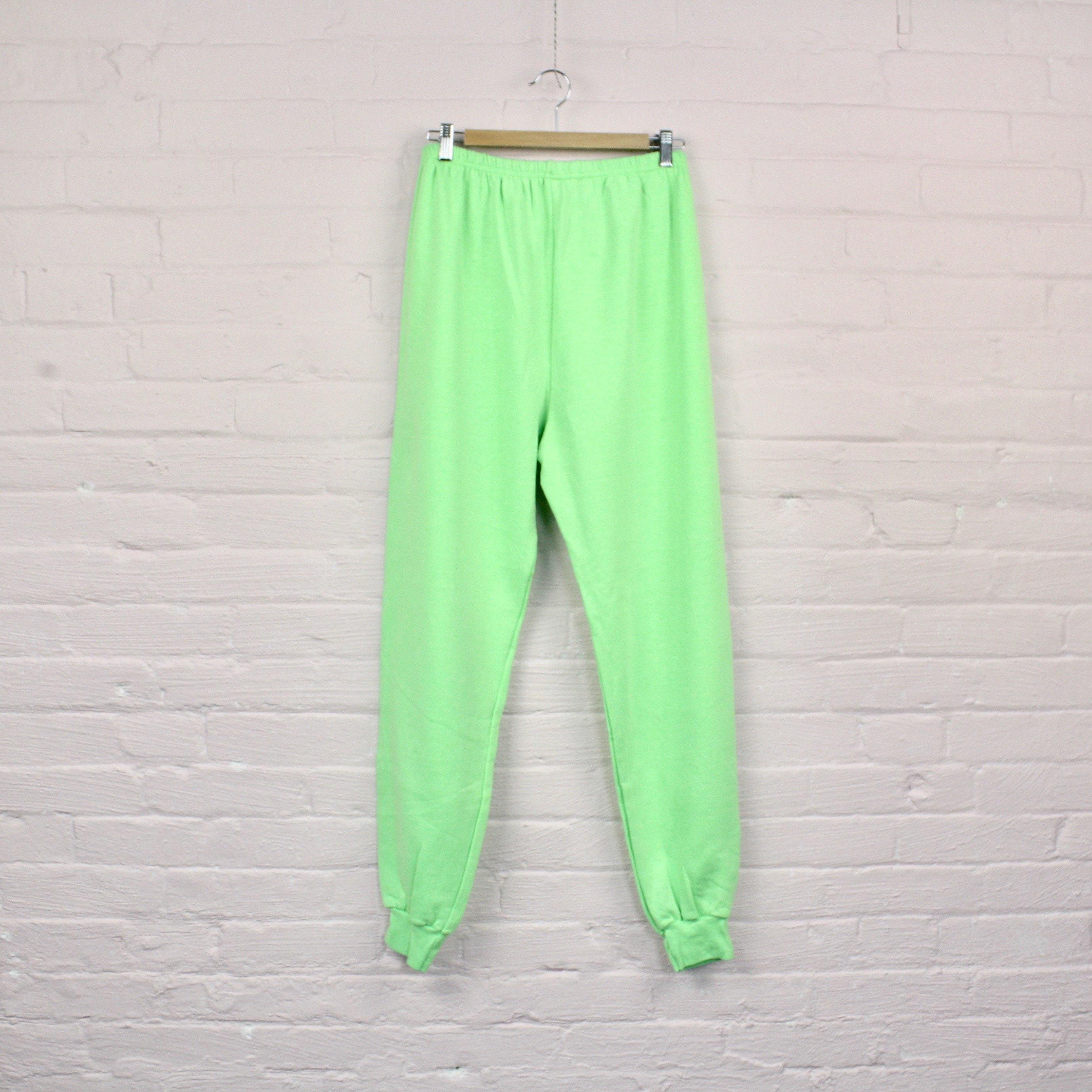coton doux fluo vert pantalons de survêtement · lumineux de de lumineux  piste pantalon · néon 6ed2e4b42f3