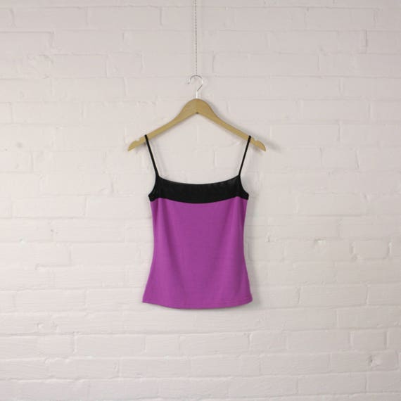 purple 90s holt renfrew y2k tanktop with mesh · st
