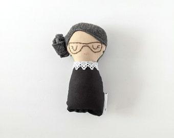 Ruth Bader Ginsburg RBG rag doll small - notorious RBG