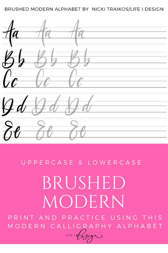 photo about Printable Calligraphy Practice Sheets known as Brushed Innovative Calligraphy Lettering Worksheets, Calligraphy Information, Study Calligraphy, Printable Calligraphy Train Sheets Higher/lessen