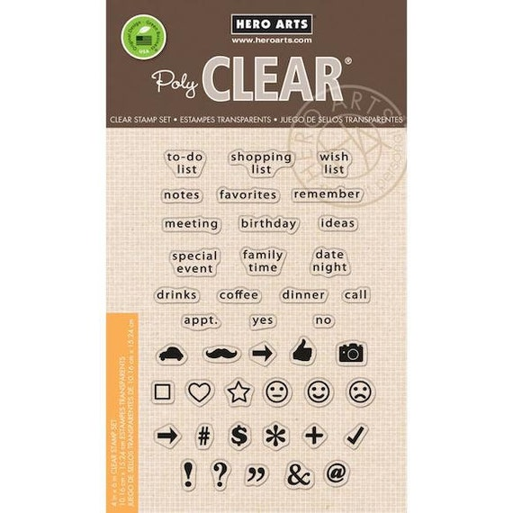 Hero Arts - To Do List - Clear Stamps 4x6 Sheet - CL848 - Planner Stamps