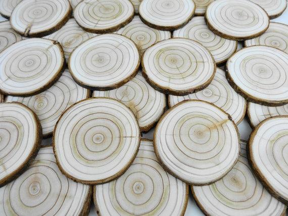 30pcs Wooden Slice TOOL Rustic Decorative Wedding Hobbies DIY Craft Handmade UK