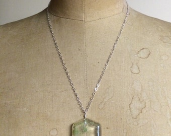 Geometric Resin Necklace- Sterling Silver Resin Jewelry by Apricity Jewelry