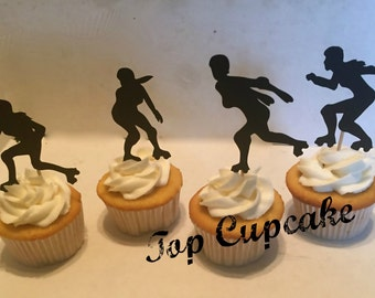 Roller Derby Cupcake Toppers -12
