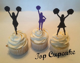 Cheerleader Cupcake Toppers -12