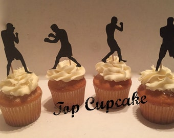 Boxing Inspired Cupcake Toppers