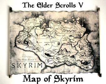 Oblivion map | Etsy