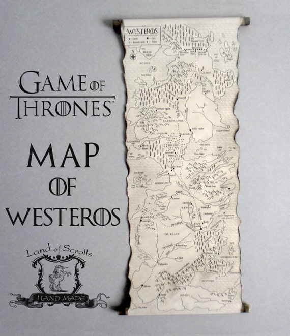 GAME of THRONES MAP Westeros Map Poster on Handmade Scroll GoT Map Game Of Thrones Maps Book on walking dead map, king of thrones map, world map, the game book map, harry potter book map, outlander book map, under the dome book map, king of thorns map, gameof thrones map, the mysterious island book map, wentworth prison scotland map, dothraki sea map,
