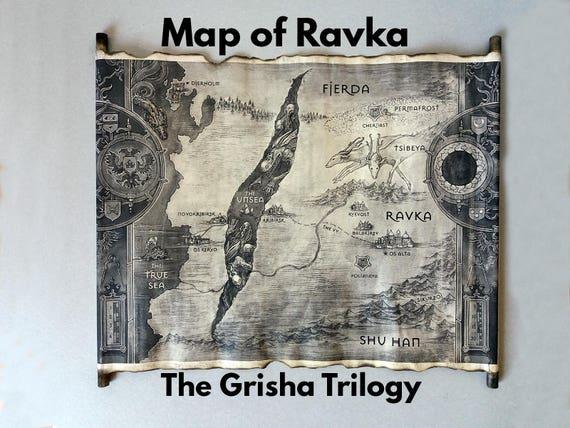 Map of Ravka Scroll The Grisha Trilogy Map Ravka Map | Etsy