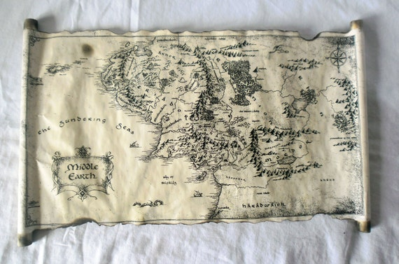 Map Of Middle Earth Scroll Lord Of The Rings Map The Hobbit Map on Map Middle Earth Hobbit on bilbo's map, hobbit rivendell map, hobbit battle map, hobbit hobbiton map, thorin oakenshield map, hobbit elves map, the hobbit map, printable hobbit map, hobbit book map, hobbit journey map, hobbit map wallpaper, hobbit bilbo and thorin, hobbit azog figure, the one ring map, hobbit misty mountains map, thorin's map, lego hobbit map, hobbit kom map, lonely mountain map,