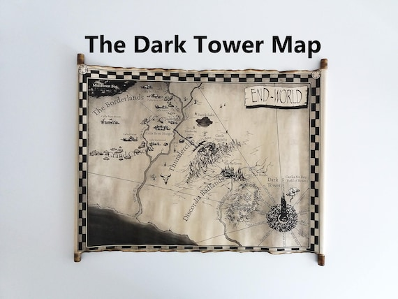 The Dark Tower Map Scroll End-World Map Mid-World Map | Etsy