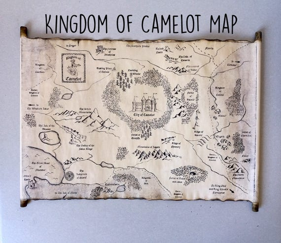 Kingdom of Camelot Map Merlin on BBC Map King Arthur Map of