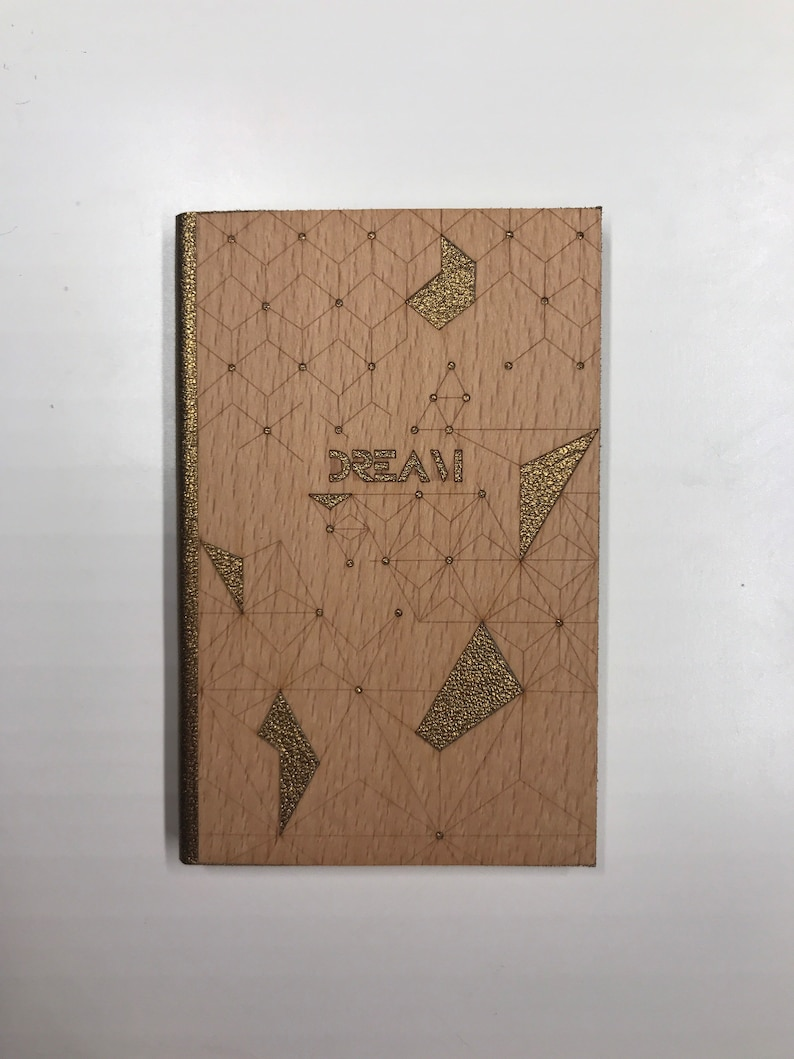 Hand-connected notebook Wood Collection 8.5 x 13 cm
